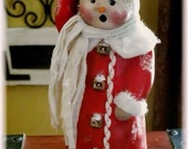 "Tutorial creating a paperclay Snowman, ""Charles"""