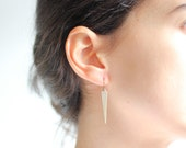 Minimalist Brass Spear Earrings - Brass, Gold Fill or Sterling Silver