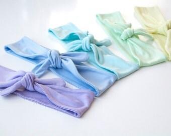 Skinny Tie Up Headscarf // Knotted Headband // Hair wrap // Yoga Hairband // Pastel Headband // Spring Hairband