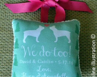 Dog Ring Bearer Pillow, Dog Ring Pillow, Ring Pillow, Wedding, Weddings