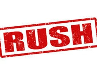 RUSH Fee | Expedited Service for Wedding Hankerchiefs, Gifts, etc.