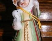 Vintage Christmas Bell Shepherd Figurine
