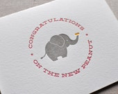 Congratulations on the New Peanut Letterpress Baby Card with Envelope