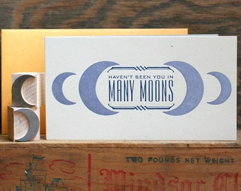 Many Moons letterpress card