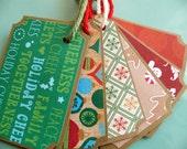 Handmade Christmas Tag set of 10 Christmas Tickets