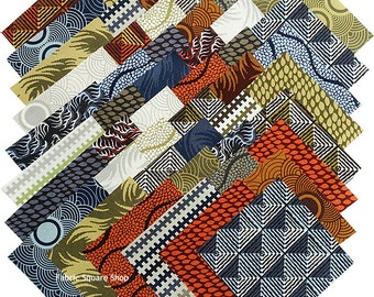 "David Butler SEVEN WONDERS NEW Precut 5"" Fabric Quilting Cotton Squares Free Spirit"