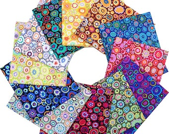Kaffe Fassett PAPERWEIGHT Fat Quarters 12 Precut Cotton Fabric Quilting FQs Westminster Fibers