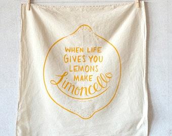 Limoncello kitchen towel