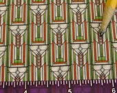 Dollhouse Miniature Craftsman UPHOLSTERY APPAREL FABRIC Wheat Sheaf Green 1/12