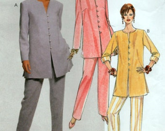 90s Sewing Pattern Ladies Pants and Tunic Top Size 12 14 16 Unused McCalls 8681