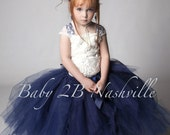 Navy Dress Flower Girl Dr...
