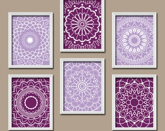 Purple Wall Art Medallion Wall Art Bedroom Pictures Canvas Or Prints Bathroom Artwork