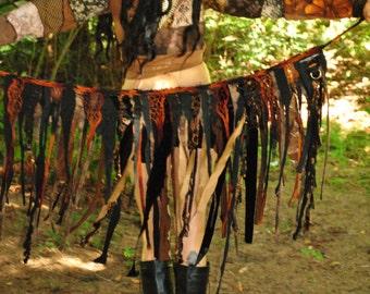 Festival Skirt - Hippie Skirt - Pixie Skirt - Gypsy Skirt - Womens Tutu - Wrap Skirt - Up-cycled Skirt - Intergalactic Apparel