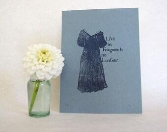 EM Forster Art Print - Edwardian fashion illustration
