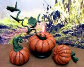 Soft Sculpture Pumpkin Light, Fall Decoration, Soft Sculpture Pumpkins