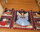Angels Watching Over Me Quilted Holiday Wall Hanging