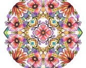Coloring BOOK for adults -Garden Flowers Mandalas