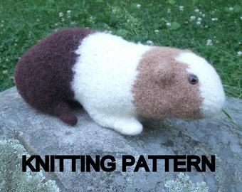 Guinea Pig Knitting Pattern, Stuffed Toy Pattern Plush PDF Digital Download