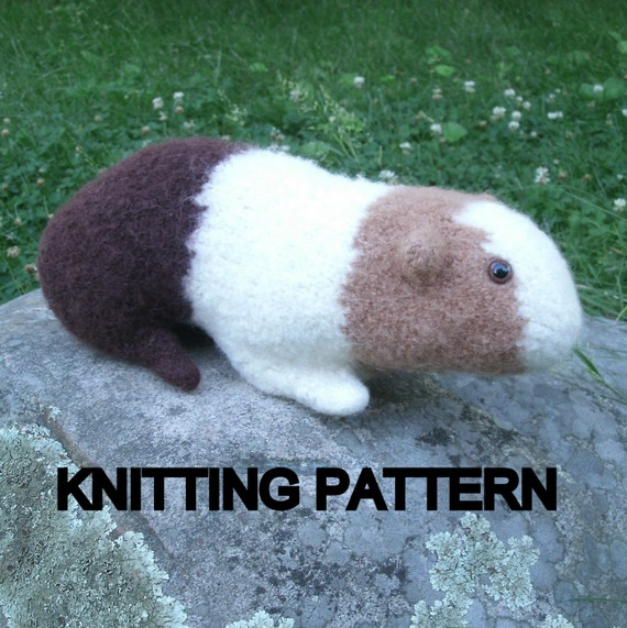 Knitting Pattern For A Guinea Pig : Guinea Pig Knitting Pattern, Stuffed Toy Pattern Plush PDF ...
