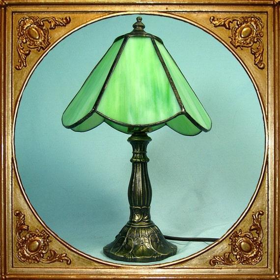 60s Tiffa Mini L Amp L Tiffany Table Lamp With Meyda Signed