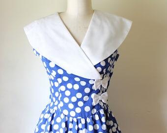 1950s Vintage dress / Womens Size 4 Vintage Dress
