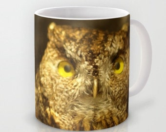 Owl Cup Woodland Forest Scene Owl Natural History Brown Owl Woodland Mug Forest Scene Natural History