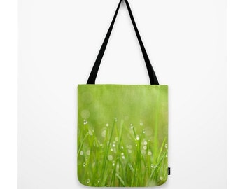 Splendor In The Grass Bag Woodland Scene Forest Grass Bag Dew Bokeh In The Grass Bag