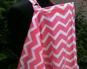 Nursing Cover- Peachy Pink Chevron