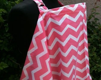Nursing Cover, Breastfeeding Feeding Cover up, Nursing cover up, Peach Pink ChevronBreastfeeding Cover