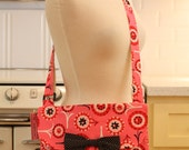 Messenger Bag Flowers on Pink Cross Body Bag Purse
