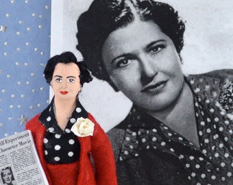 Louella Parsons Doll Miniature Hollywood Columnist Art Character