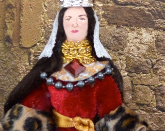 Queen Guinevere Doll Miniature King Arthur Medieval Art Character