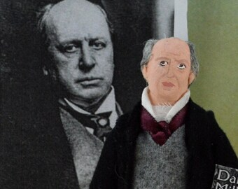 Henry James Doll Miniature Art Collectible