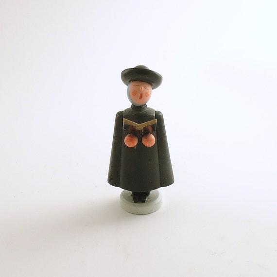 Singing Carolers Candleholders Figurines Vintage By: Vintage Erzgebirge Wood Figurine Christmas Choir Caroler