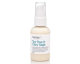 Face Moisturizer for Oily Skin with Hazelnut Green Tea and Tea Tree Oil