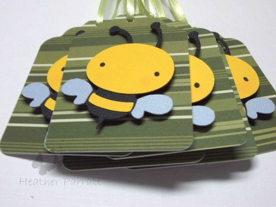 Bee Gift Tags set of 6