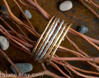 Single Bronze Raw Cuff | Bronze Bracelet | Nature Inspired