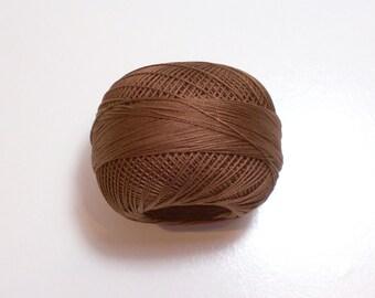 Lizbeth Size 20 Cotton Crochet Tatting Thread Dark Mocha Brown Color number 692, Brown Thread