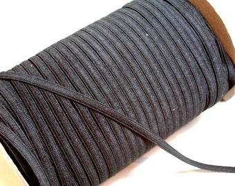 Black Elastic, Black Skinny Elastic Sewing Trim 1/4 inch wide x 10 yards