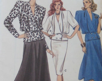 Vogue Top Skirt Pattern 9968