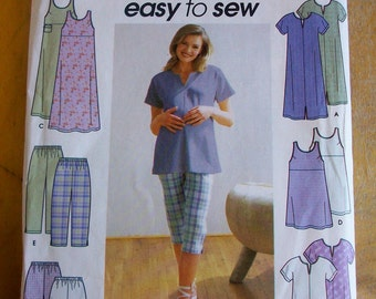 Simplicity 9188 Maternity Jumper, Tunic, Pants, Shorts, Knit Dress or Top  Sewing Pattern