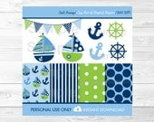 Cute Nautical Clipart / N...