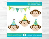 Cute Monkey Clipart / Mon...