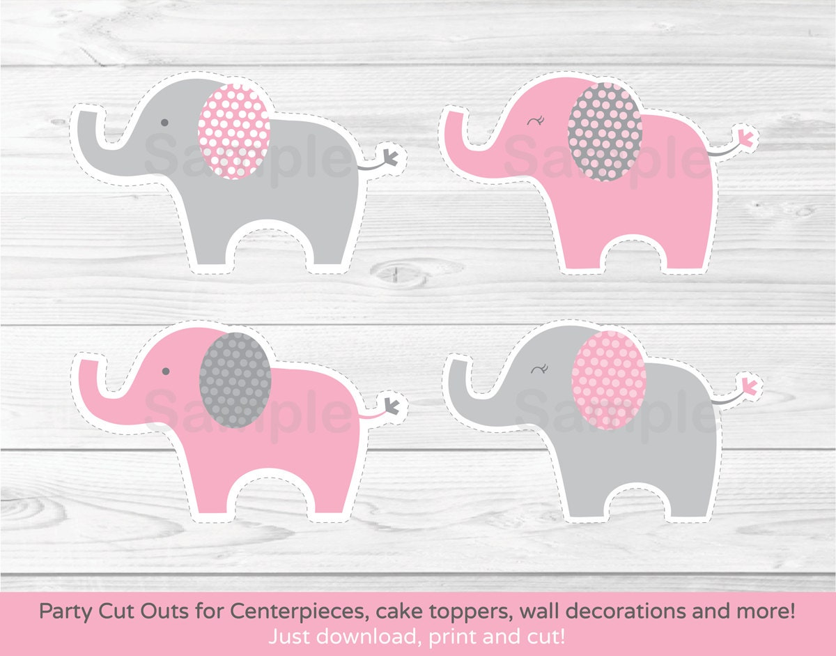 It's just an image of Eloquent Free Printable Elephant Baby Shower