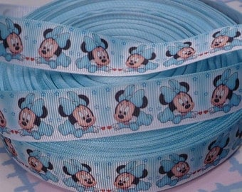 Baby Minnie Mouse Grosgrain Ribbon 7/8 inch wide, 5 Yards