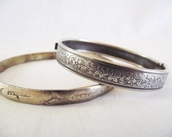 Vintage Silver Bracelets - Clasp Style and Mexico Nickel Silver