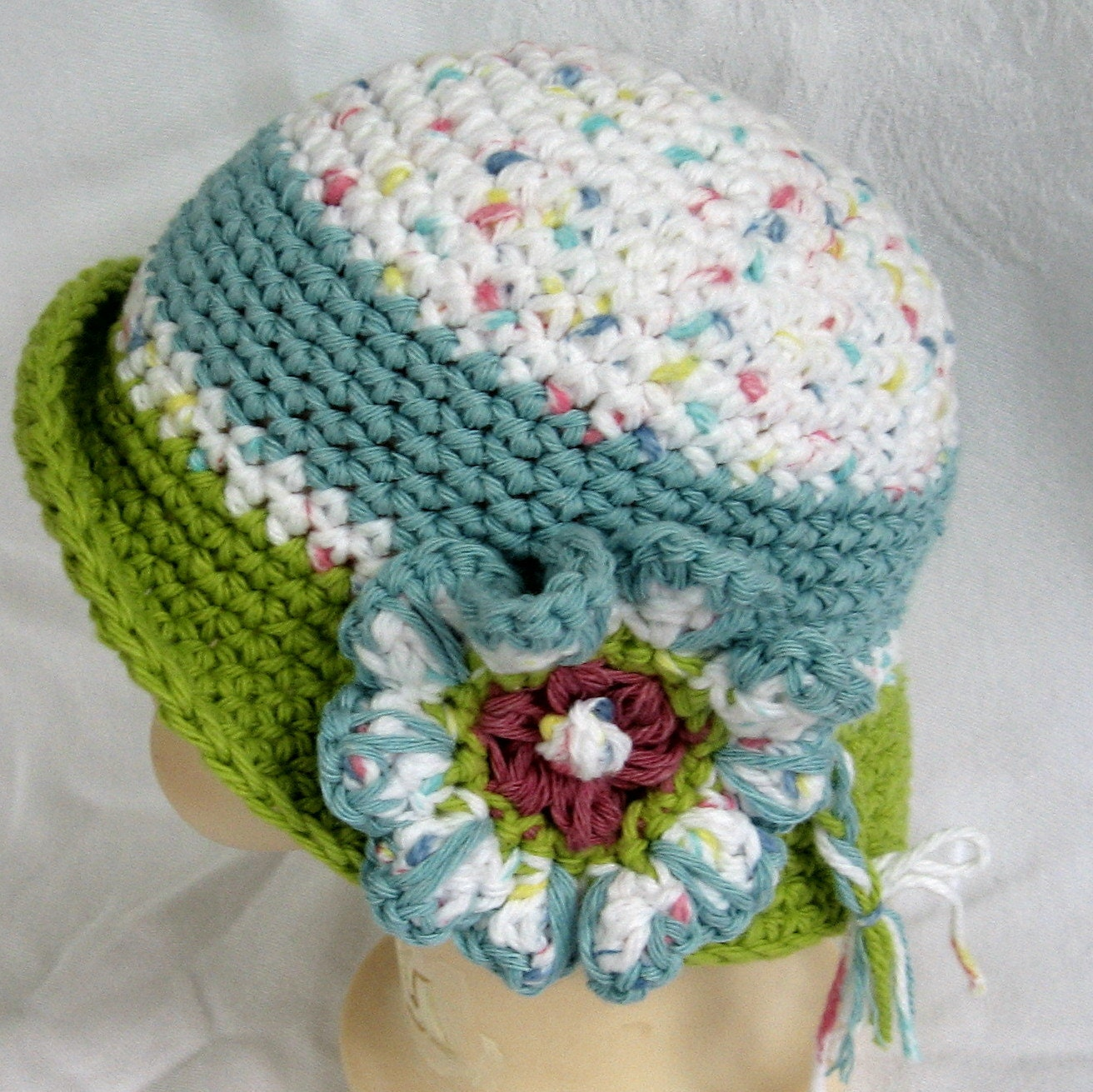 Baby Girls Crochet Hat Pattern Brimmed With by kalliedesigns