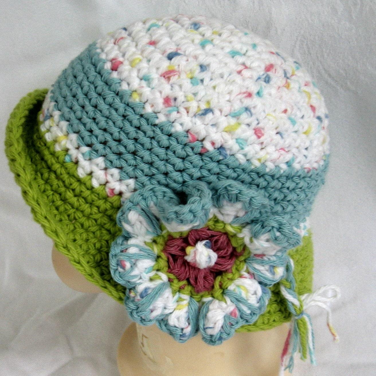 Crochet Brim Toddler Hat Pattern : Baby Girls Crochet Hat Pattern Brimmed With by kalliedesigns