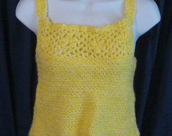 Vintage Crochet Tank Top Size Small Christmas Present Gift Stocking Stuffer Birthday Valentines Mothers Day