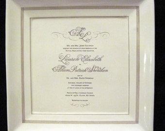 "10"" Wedding Plate"